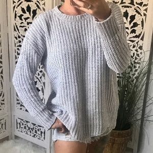 Sweaters - POP Chenille Scallop Hem Pullover